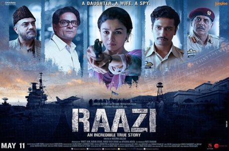 YOU'LL BE AT A BIG LOSS IF YOU DON'T WATCH 'RAAZI' IN THEATRES