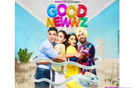 'GOOD NEWWZ' IS AMUSINGLY ENTERTAINING